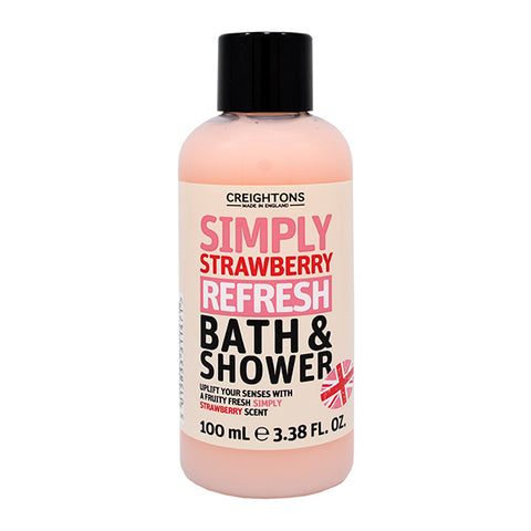 Creightons Simply Strawberry Refresh Bath & Shower Travel Size 100ml