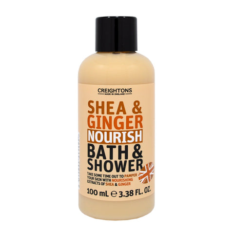 Creightons Shea & Ginger Nourish Bath & Shower Travel Size 100ml