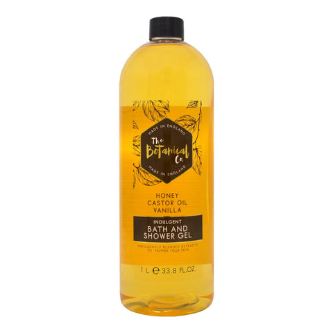 The Botanical Co. Honey, Castor Oil & Vanilla Indulgent Bath & Shower Gel 1L
