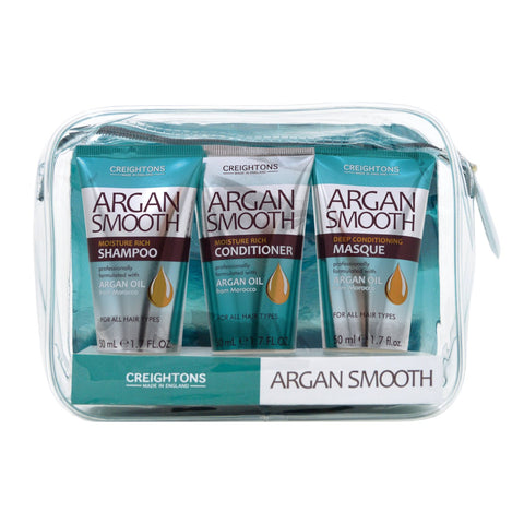 Argan Smooth Moisture Rich Haircare Set 3 x 50ml