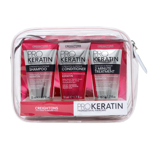Keratin Pro Strength & Repair Haircare Set 3 x 50ml