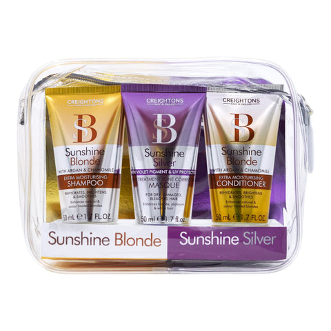 Sunshine Blonde & Sunshine Silver Haircare Set 3 x 50ml
