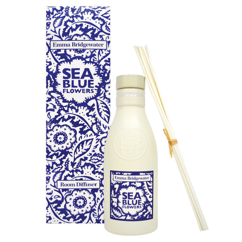 Emma Bridgewater Sea Blue Flowers Room Diffuser 200ml