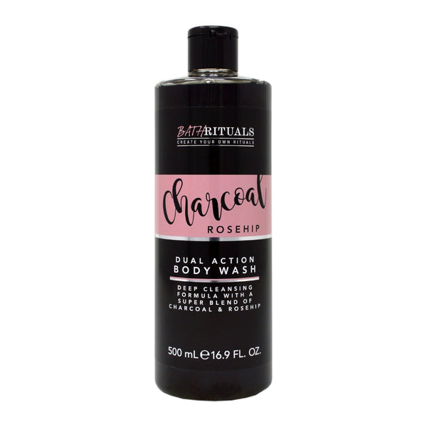 Bath Rituals Charcoal & Rosehip Dual Action Body Wash 500ml