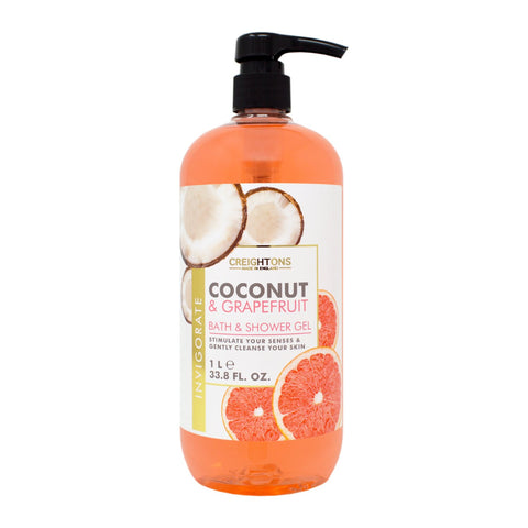 Creightons Coconut & Grapefruit Invigorate Bath & Shower Gel 1L