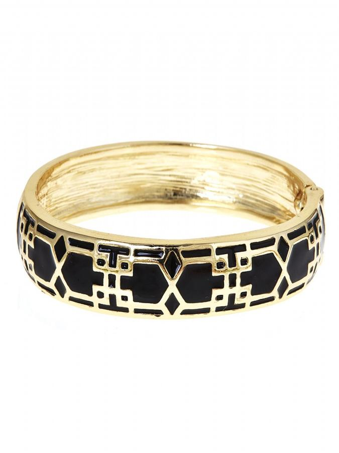 Black and Gold Mosaic Bracelet