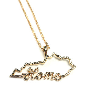 Kentucky Home Necklace in Silver or Gold Tone