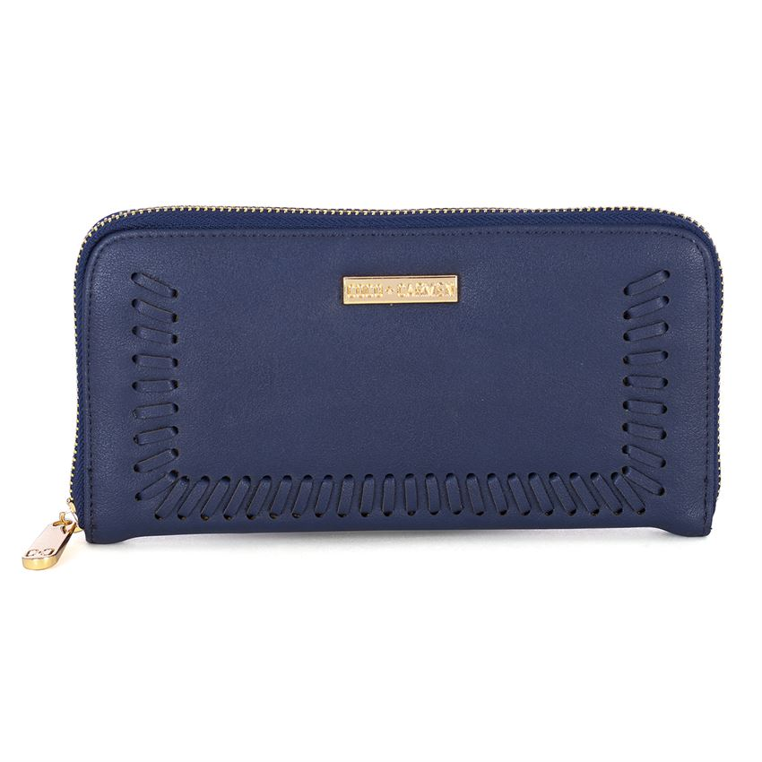 Navy Whipstitch Wallet