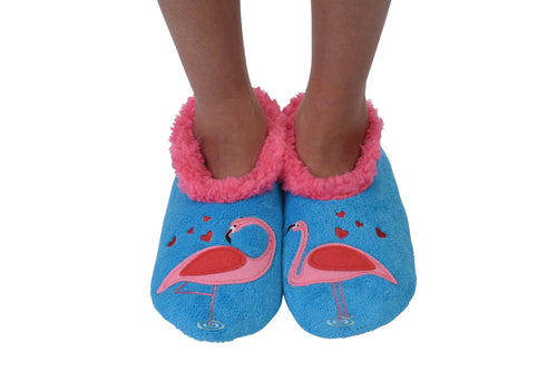 Let's Flamingle Snoozies Slippers