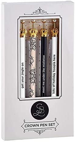 Set of 4 Christmas Crown Ink Pens