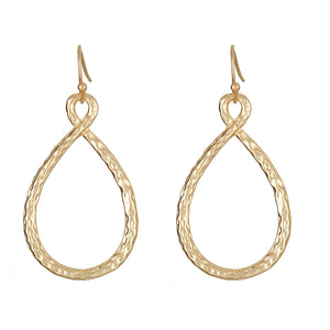 The Gibson Brushed Gold Earrings by Fornash