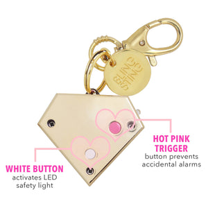 BlingSting Ahhlarm   Personal Security Alarm Gold Gemstone