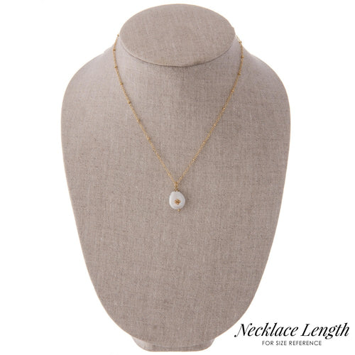 Gold Satellite Pearl Necklace