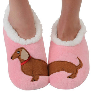 Snoozies Wiener Dog Slippers XL Only