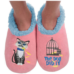 "Snoozies ""The Dog Did It"" slippers"