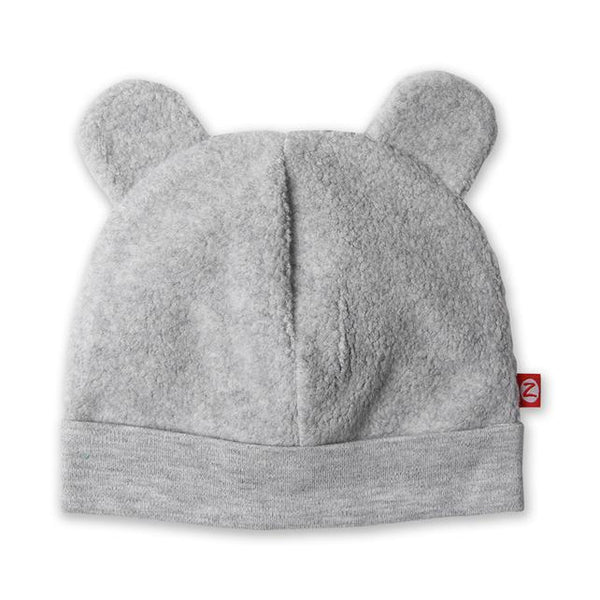 Zutano Cozie fleece hat heather gray