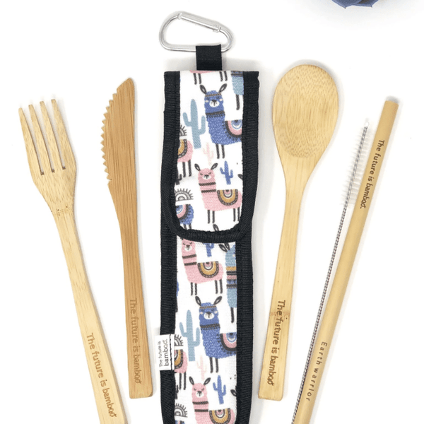 The Future is Bamboo Utensil Kit - Alpaca