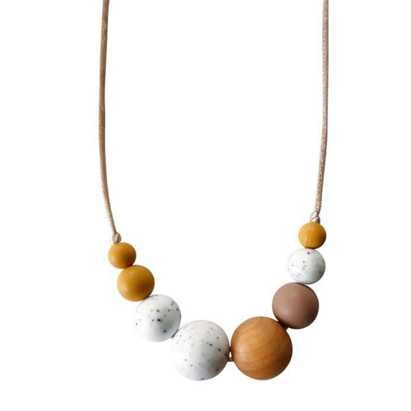 Chewable Charm Teething Necklace Mckenzie Moonstone