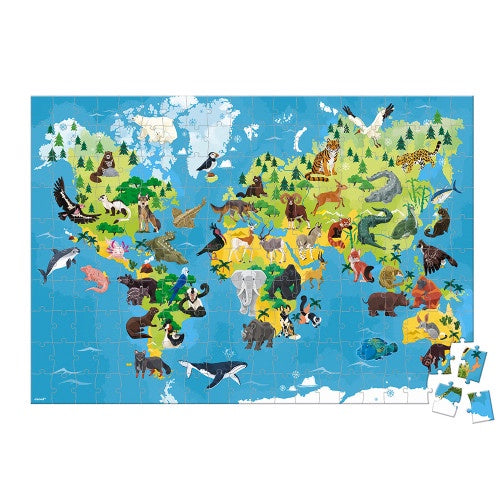 Janod Educational Puzzle - Endangered Animals