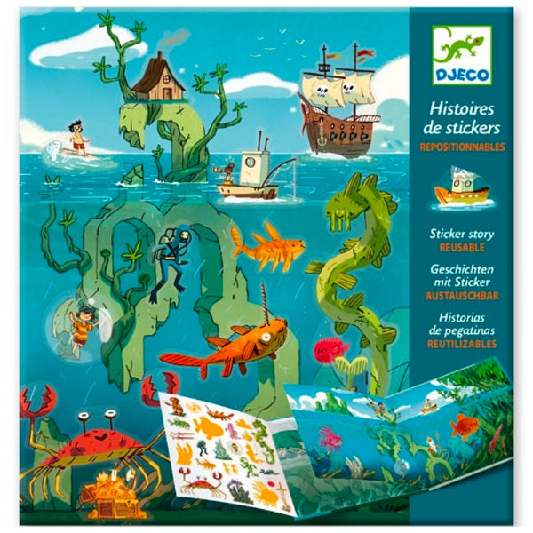 Djeco Sticker Story Adventures at Sea