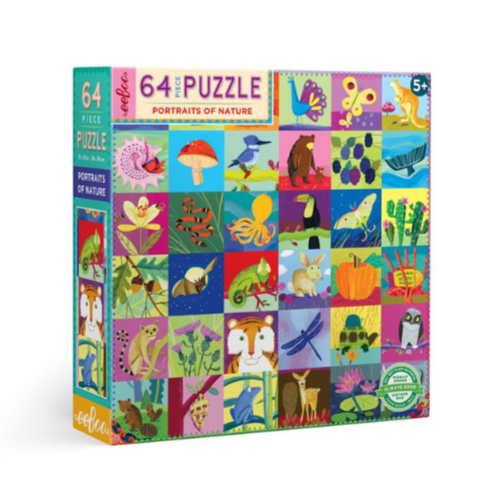 Eeboo 64 Piece Puzzle Portaits of Nature