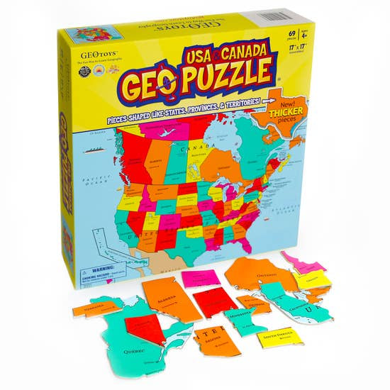 GeoToys Geopuzzle- USA and Canada