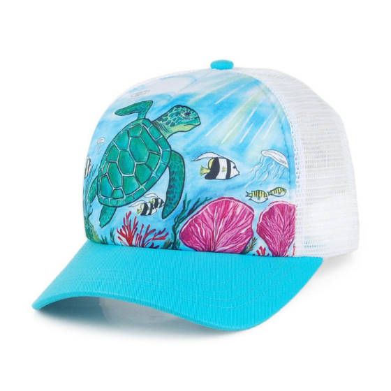 Sunday Afternoons Kids Trucker Hat Sea Turtle