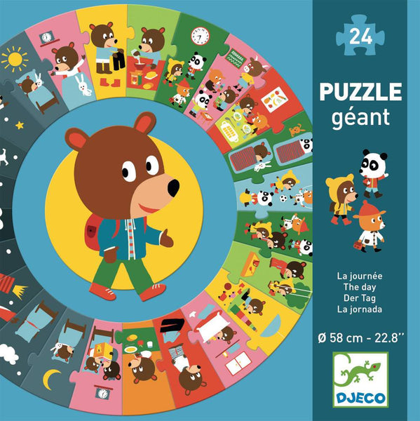Djeco Giant Floor Puzzle- The Day