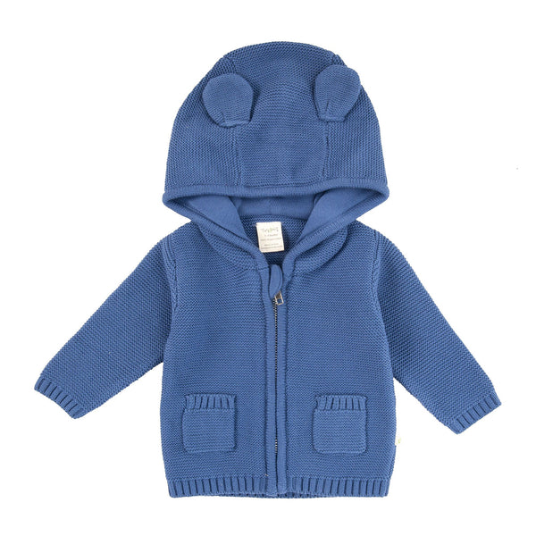 Tiny Twig Knitted Hoodie Sapphire