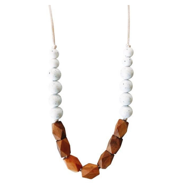 Chewable Charm Teething Necklace Harrison Moonstone