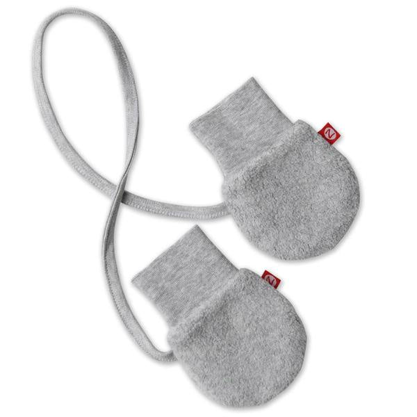 Zutano Cozie Fleece Mittens Gray Heather