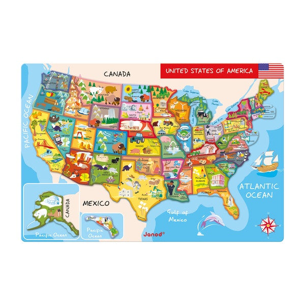 Janod Magnetic US Map