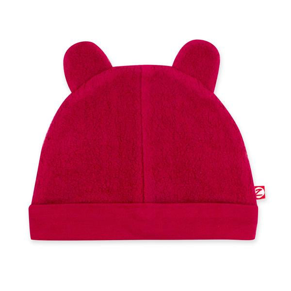 Zutano Cozie Fleece Hat Cranberry