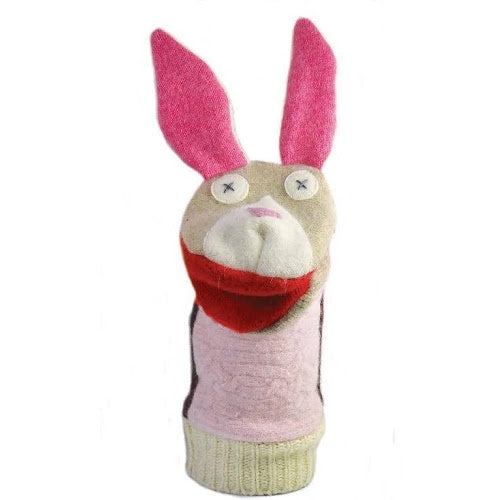 Cate and Levi Wool Bunny Puppet