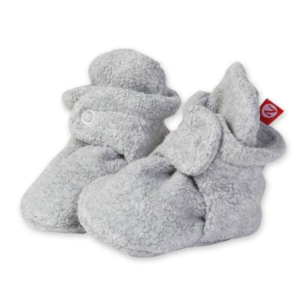 Zutano Cozie Fleece Booties Gray Heather
