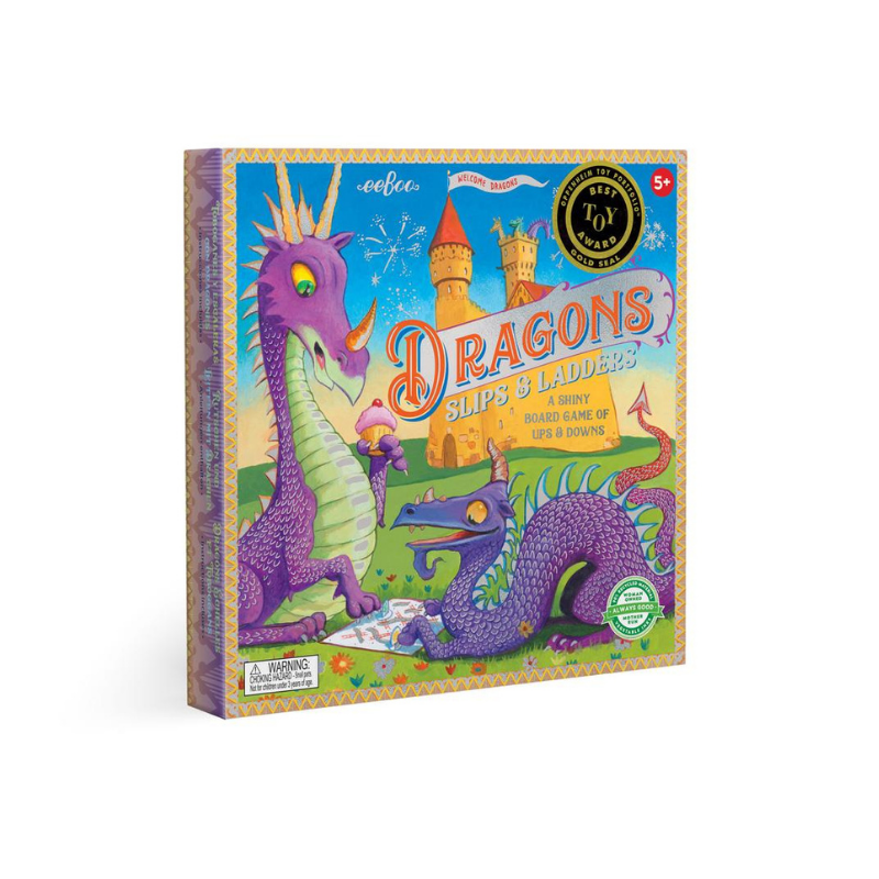 Eeboo Game Dragons Slips and Ladders