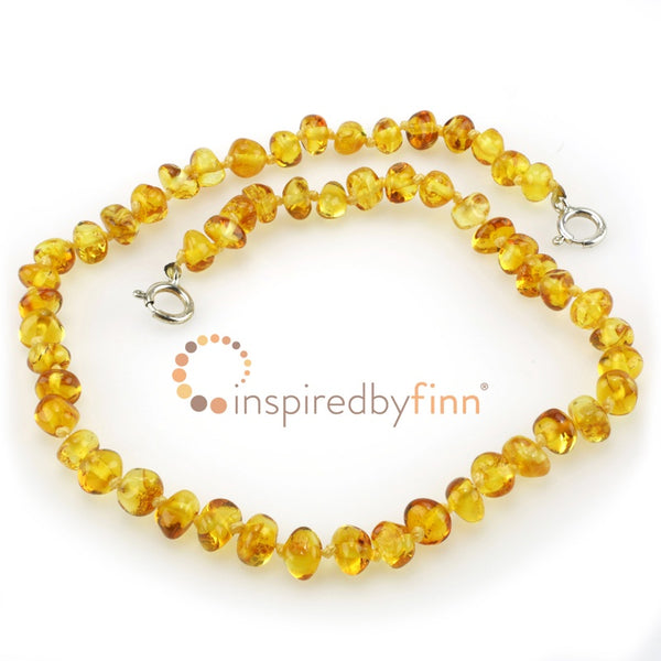Inspired by Finn Baltic Amber Anklet Golden Swirl