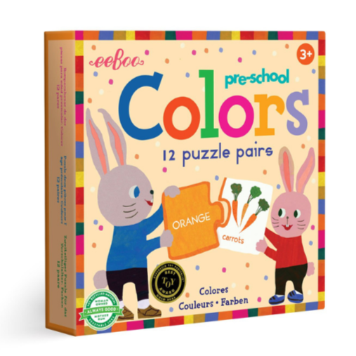 Eeboo Preschool Puzzle Pairs Colors