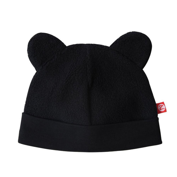 Zutano Cozie Fleece Hat Black