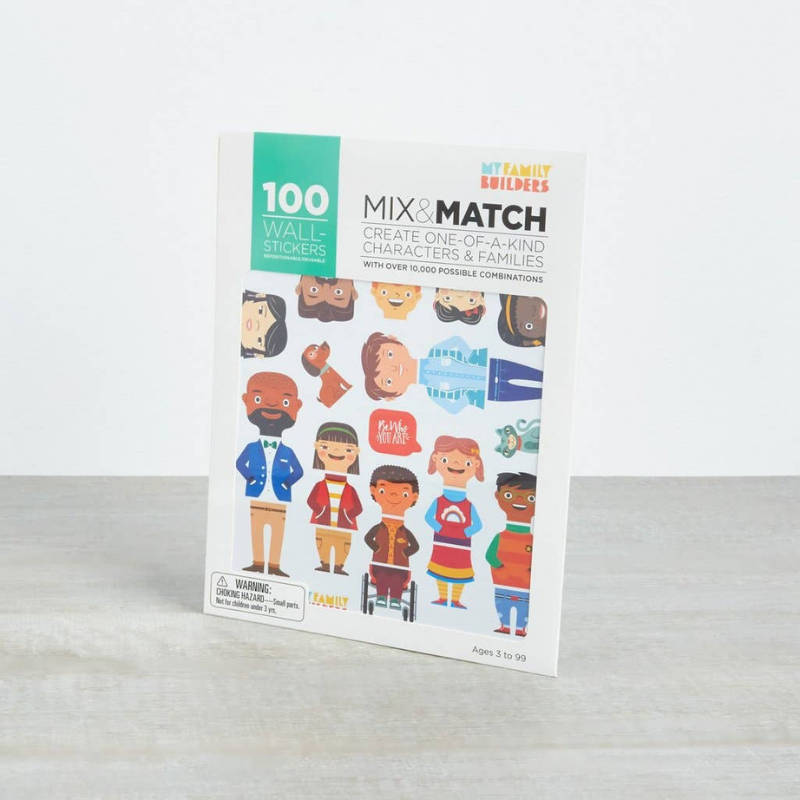 MyFamilyBuilders 100 Removable Stickers