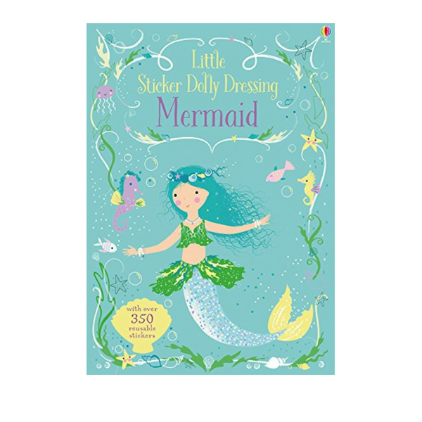 Usborne Little Sticker Dolly Dressing Mermaids
