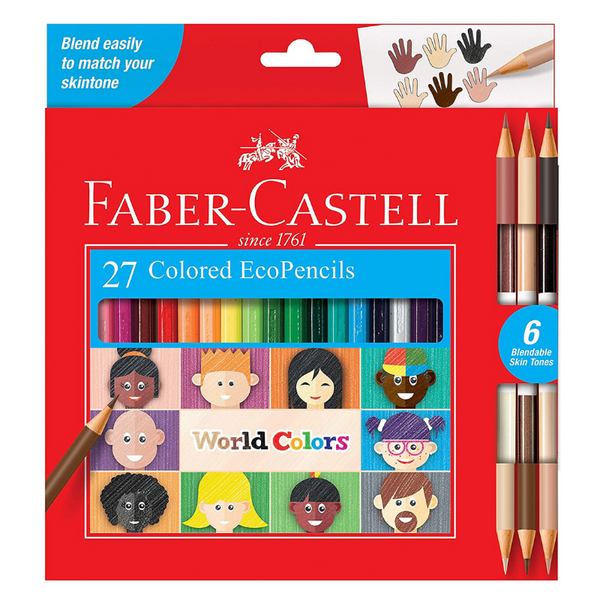 Faber Castell World Colors Eco-Pencils (27 Count)