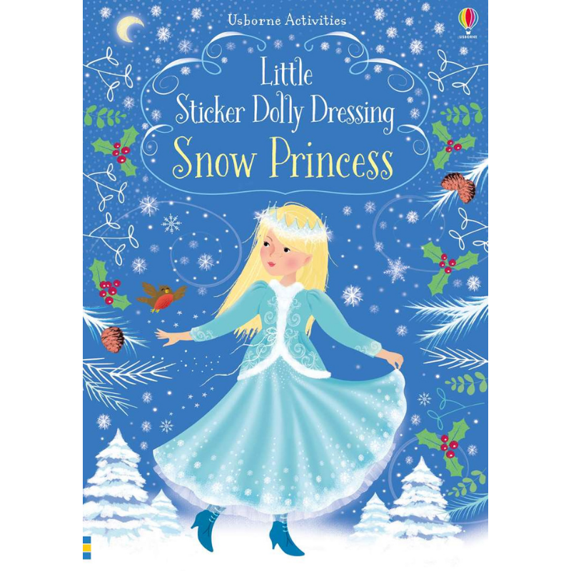 Usborne Little Sticker Dolly Dressing Snow Princesses