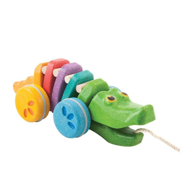 Plan Toys Pull Toys -Rainbow Alligator