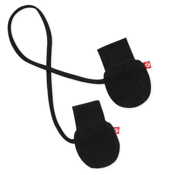 Zutano Cozie Fleece Mittens Black