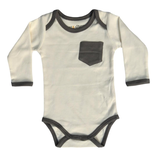 Cat & Dogma Organic Bodysuit Insects Solid