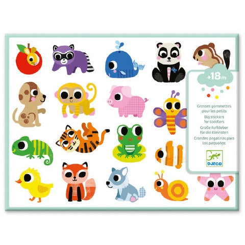 Djeco Big Stickers for Toddlers- Baby Animals