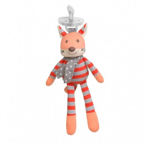 Apple Park Organic Pacifier Buddies Frenchy Fox