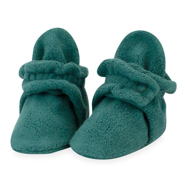 Zutano Cozie Fleece Booties  Fern