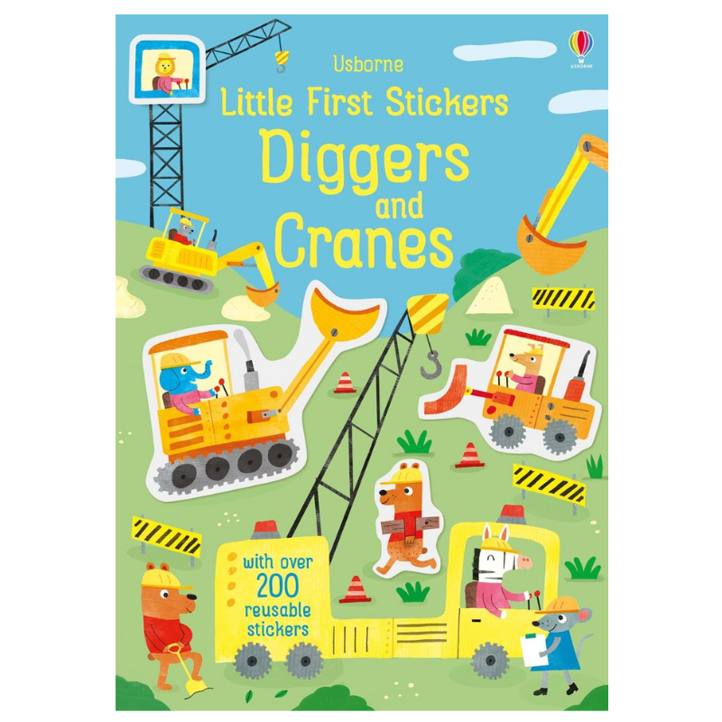 Usborne Little Stickers Diggers and Cranes